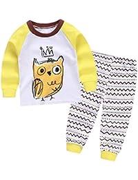 Baby Girl Girl Pyjamas Set Cartoon Sleeuit manga larga ropa de dormir