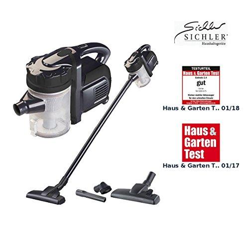Sichler Haushaltsgeräte 2in1-Akku-Zyklon-Staubsauger BHS-300.ak mit 2 Aufsätzen, 21,6 V