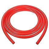 KUNSE 6Mm 2 Meter Silikon Vakuumschlauch Rohr Schlauchleitung Rohr 6.6 Fuß Blau Rot Schwarz-Rot
