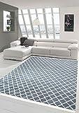 Merinos Print Teppich Designerteppich Wohnzimmerteppich Retro waschbar in Grau Creme Größe 140x200 cm Oval