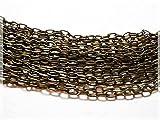 2 m längliche Gliederkette in antik Bronze von Vintageparts, DIY-Schmuck