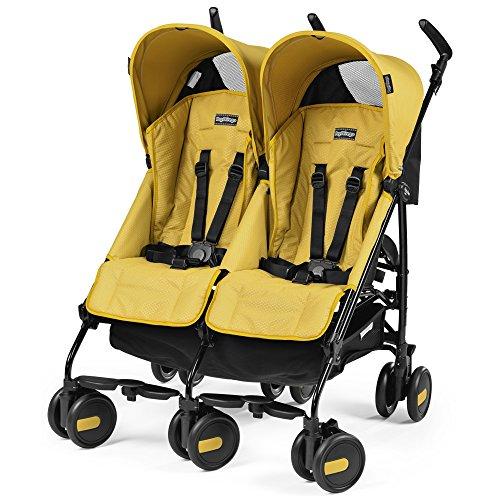 Peg perego pliko mini twin passeggino, mod yellow