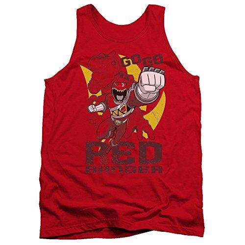 Power Rangers - - Débardeur Rouge Go Hommes, Large, Red
