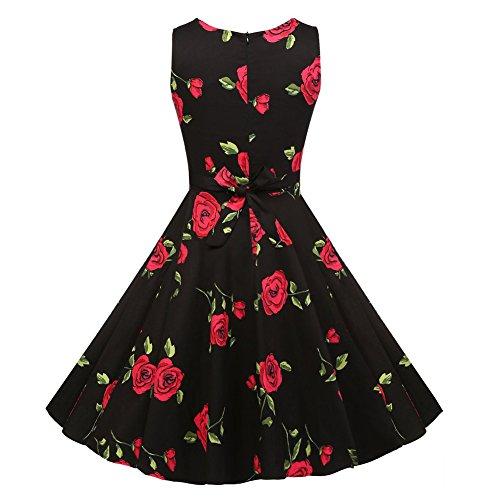 Newbestyle Sommer Damen 50s Kleid Retro Vintage Kleid C1#