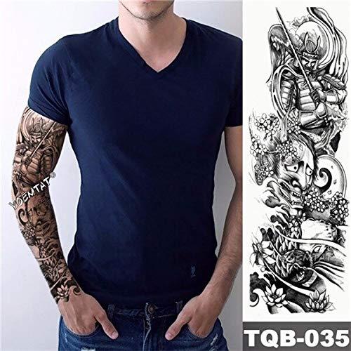 Yyoutop nuovo 1 pezzo e tattoo sticker nero stile fiore di loto tatuaggio con braccio body art grande manica grande adesivo tatuaggio 3set