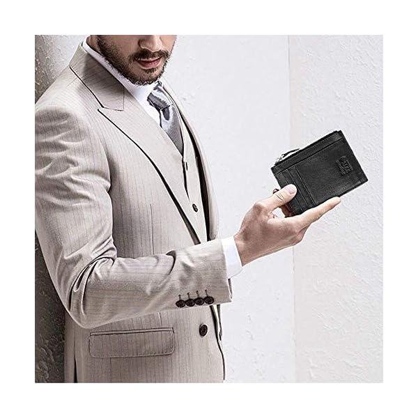 flintronic Portia Carte di Credito e Tasche Pelle, RFID/NFC Blocco Portafoglo, (1 Scomparto Con Cerniera, 6 Slot Per… 13 spesavip