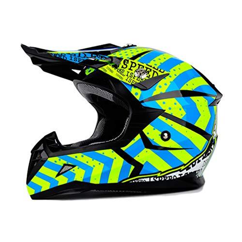 Casco moto integrale da uomo, casco moto off-road per adolescenti, caschi da motocross adulti 50-62cm