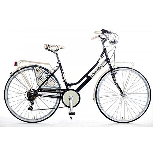 Bicicleta Urbana de Paseo Clasica Holandesa 6V Cinzia Componentes Shimano 2809ng