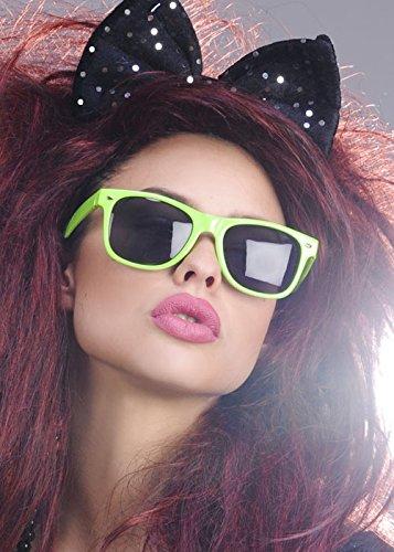 1980s Black Sequin Fancy Dress Hair Bow on Headband Sequin Bow Headband