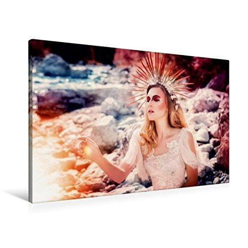 Preisvergleich Produktbild Premium Textil-Leinwand 90 cm x 60 cm quer, König des Sommers | Wandbild, Bild auf Keilrahmen, Fertigbild auf echter Leinwand, Leinwanddruck: Ein modernes Märchen (CALVENDO Menschen)