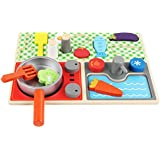Play Food Set For Kids & Toy Food For Pretend Play - Play Kitchen Set With Childrens Educational Food Toys - Fake Plastic Foods For Cooking