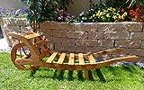 Holzlager, Holz,-Schubkarre zum Bepflanzen, Blumentöpfe, Pflanzkübel, Pflanzkasten, Blumenkasten, Pflanzhilfe, Pflanzcontainer, Pflanztröge, Pflanzschale, Schubkarren 80 cm HSOF-80-DUNKELBRAUN Holzlager, Holz, in amazon dunkelbraun braun Pflanzgefäß, Pflanztöpfe Holz, als historische 80 cm Sackkarren usw.