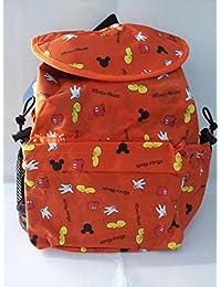 Mochila Infantil, Diseño de Minnie Mouse, Color Naranja
