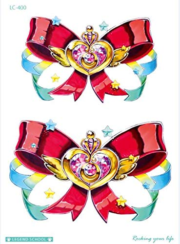 on Gefälschte Tattoo Bowknot Taty Körper Kunst Temporäre Tattoo Aufkleber Für Frauen Tatuagem Flash Tatouage Girl Tatoo (2 Pack) LC-400 ()