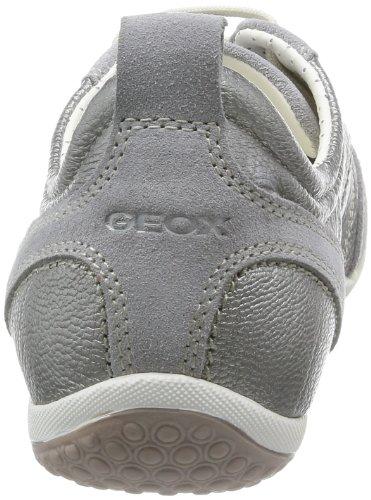 Geox D Vega A, Scarpe da Ginnastica Donna Argento (Pearl C1017)