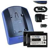2 Akkus NP-FV120 (3300mAh) + Ladegerät (Netz+Kfz+USB) für Sony NP-FV100(A) / DCR-SX65 SX85 .. / HDR-CX240E CX405../ PJ410 PJ620.. / FDR-AXP33.. / HDR-TD.. - s. Liste!