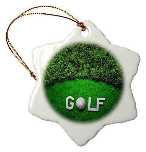 Monsety Golfball mit Schriftzug Golf auf Einem Golfplatz Weihnachten Porzellan Dekoration Schneeflocke Ornament Home Decorations Hanging Crafts