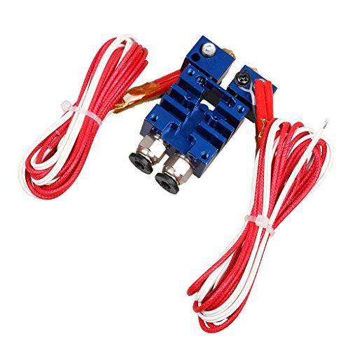 KESOTO Quimera Extrusora De Doble Cabeza V6 Hotend 0,4 Mm / 1,75 Mm para El Azul De La Impresora 3D
