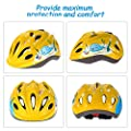 Odoland Kids Bike Helmet for Cycling, Skateboard, Hoverboard, Scooter & Rollerblading - 50-57cm Adjustable Helmet for suit Age from 5 to 8 Boys & Girls by Odoland