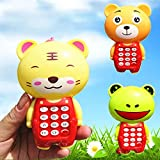timeracing Creative Cartoon Animal Music Light Mobile Phone Children Kids Educational Learning Toy Gift