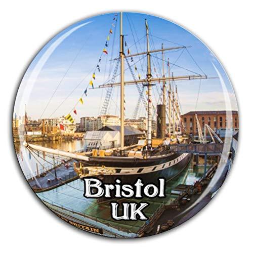 Bristol England UK UK Kühlschrankmagnet 3D Kristallglas Tourist City Travel Souvenir Collection Geschenk Stark Kühlschrank Aufkleber