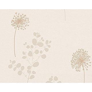 Tapeten Livingwalls 2909-22 Avenzio 5 Blüten braun metallic floral Zweige Blä...