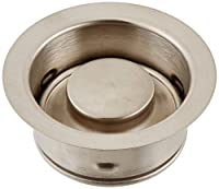 Waste King Bolt Mount Sink Flange and Stopper, Satin Nickel