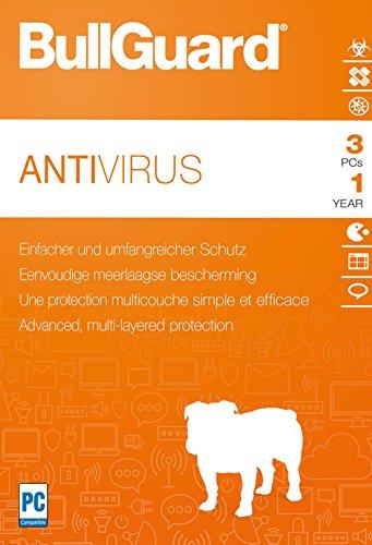 Bullguard Antivirus 2018 - Lizenz für 1 Jahr und 3 PCs
