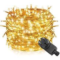 Tersely 100 LumièRes De Guirlande De 10M LED,Basse Tension 31V LumièRes De Guirlande D'IntéRieurs/ExtéRieurs LacrymogèNes Pour L'Arbre De NoëL ÉVèNements De Mariage De Jardin