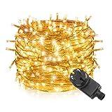 Tersely LED Lichterkette Weihnachten Kette Leuchte auf Transparent Kabel 60m 600er LED Lichter mit 8 Modi Innen und Außenbereich Lauflichter für Saal, Garten, Weihnachten, Hochzeit, Party-Warmweiß