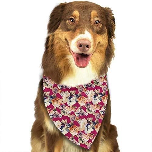 Asian Kostüm Lustig - Gxdchfj Asian Flower Red Fashion Dog Bandana Pet Accessories Easy Wash Scarf