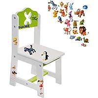 Preisvergleich für alles-meine.de GmbH Stuhl für Kinder - aus Sehr stabilen Holz - lustige Zootiere - Weiß / Grün ..