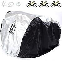 Cubierta universal para bicicleta de nailon 190T impermeable, portátil y ligera para almacenamiento exterior o interior de 3bicicletas, de Fucnen