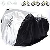 Universal Bike Covers 190T Nylon Waterproof Portable Lightweight for Outside Indoor Storage 3 Bikes FUCNEN Heavy Duty Bicycle Cover Anti Dust Rain UV Protection for Mountain Road Bike