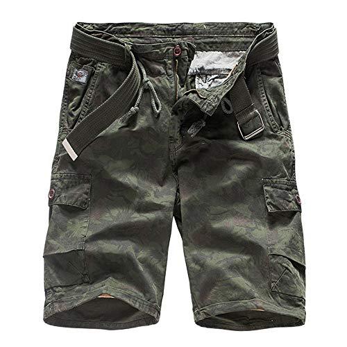 Aiserkly Herren Sommer Camouflage Cargo Shorts im Freien Baumwolle Lockere Jogging Hosen Kurze Arbeitshose Low-rise-cord-hose