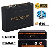 Microware HDMI Audio Extractor Converter Splitter, Support Ultra HD | 4K X 2K 2160P HDMI to HDMI + Optical/SPDIF +RCA L/R Audio for PC Laptop HDTV Projector