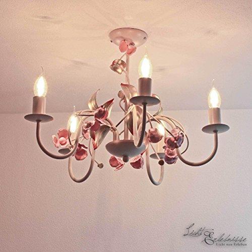 Lampe Leuchte Deckenlampe Deckenleuchte Jugendstil Rose