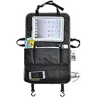 Multi-tasca del sedile posteriore dell'automobile dell'organizzatore universale Tidy tablet iPad supporto per telefono cellulare Foderine borsa da viaggio bagagli Protector Accessori auto auto (Nero + grigio)