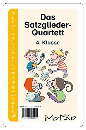 Das Satzglieder-Quartett: 4. Klasse