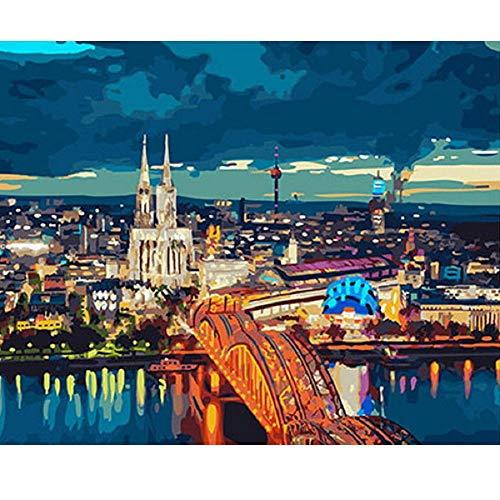 Y Puzzles 1000 Stück Bild Moderne Stadt Kunst Besonderes Geschenk Spiel Dekoration ()