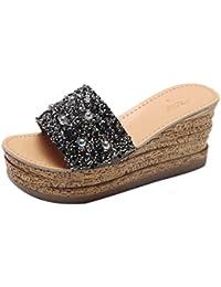 2018 Verano Mujeres Sandalias y Chanclas, WINWINTOM Suave Zapatillas de Estar por Casa, Rutilar Plataforma Gladiador Casual Zapatos Mujer Slip On Zapatillas Flip Flops Sandalia