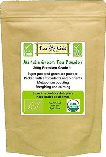 200g Matcha Green Tea Powder, Natural, Pure, Organic, BRC Food Safety Certified