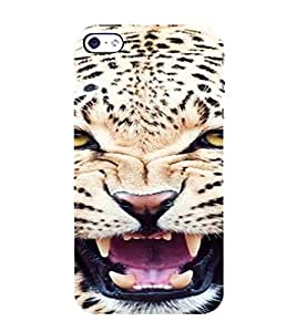 PrintVisa Leopard Animal Design 3D Hard Polycarbonate Designer Back Case Cover for Apple iPhone 5 :: 5S
