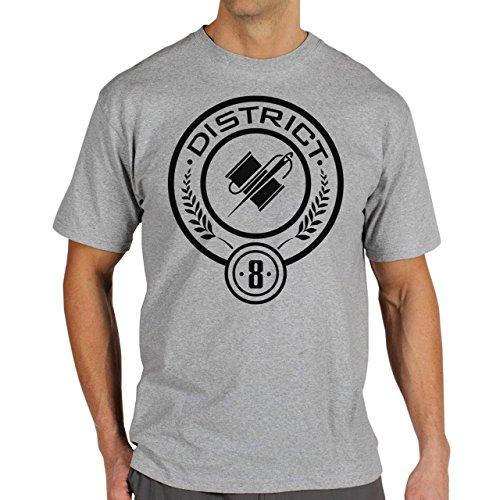 Hunger Games Districts 8 Background Herren T-Shirt Grau