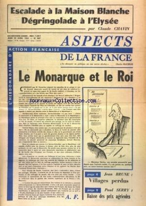ASPECTS DE LA FRANCE [No 867] du 22/04/1965