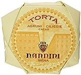 Pasticcerie Nannini Torta Agrumi Ciliegie e Cacao - Kakao-Kuchen Zitrusfrucht und Kirschen, 1er Pack (1 x 450 g)