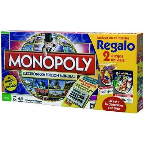 Hasbro Monopoly Electronico: Edicion Mundial 98887500 - Juegos en familia con Operación Viaje y Quién Es Quién