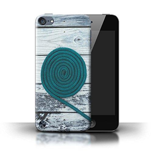 Stuff4® Hülle/Case für Apple iPod Touch 5 / Seil/Holz/Deck Muster/Teal Mode Kollektion