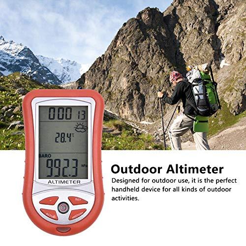 Eventualx 7-in-1 Höhenmesser Automatische Elektronische Präzision Outdoor Thermometer Einfach Zu Lesen Langlebig Barometer Instrument Für Angeln Bergsteigen