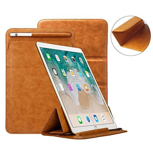iPad Pro 12,9Fall Tastatur kompatibel, toovren Dreifach gefaltete Standabdeckung, mit Bleistift Halter Magnet Leder Sleeve, für Apple iPad Pro 12.9inch braun (Stift-halter Dreifach)